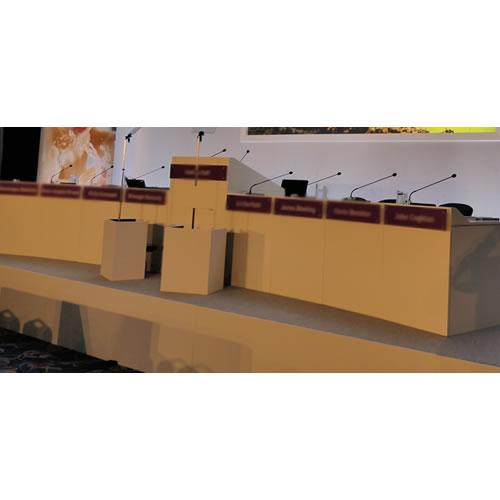 AGM Bespoke Board Desk White Hire