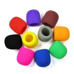 Handheld stage Microphone wind foam cover - Assorted colours hire