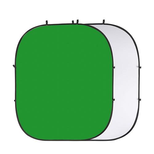 Reversible Collapsible Photo Background - White/Chroma