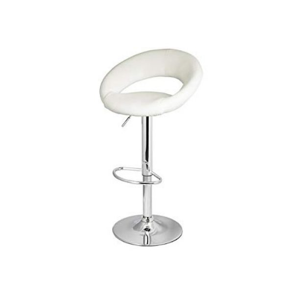 White Faux Leather Bar Stool Hire