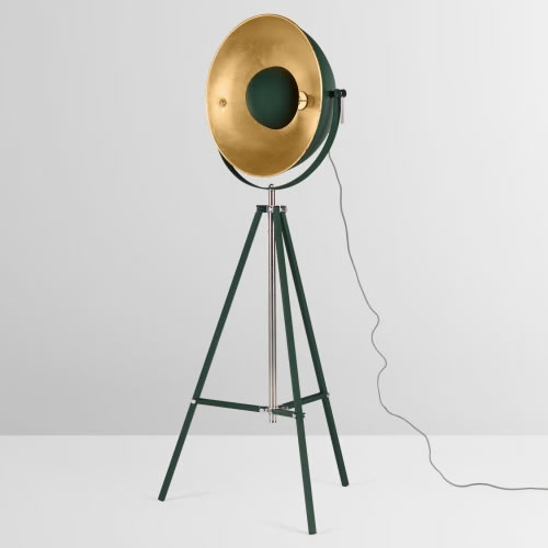 Black Copper Tripod Floor Lamp Hire