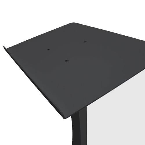 Black steel lectern